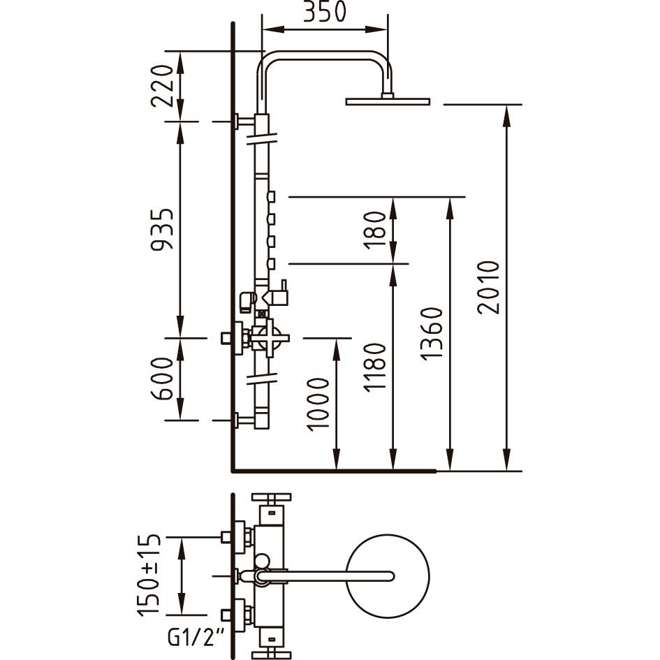 Grifo Ducha Termost Tico With2 310202 Ref 97018